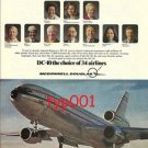MCDONNELL DOUGLAS 1975 DC-10 PRINT AD - PEOPLE LIKE IT !