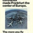 LUFTHANSA - 1975  FRANKFURT THE CENTER OF EUROPE PRINT AD