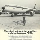 AIRBUS INDUSTRIE - 1976 - NO PLANE MATCHES AIRBUS A300 PRINT AD - LUFTHANSA JET