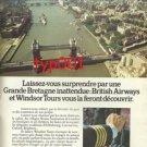 BRITISH AIRWAYS - 1974 BE SURPRISED PRINT AD - FRENCH