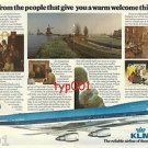 KLM - 1976 - FROM PEOPLE THAT GIVE YOU A WARM WELCOME THIS WINTER  PRINT AD