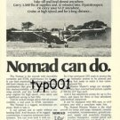 NOMAD AEROMARITIME - NOMAD CAN DO PRINT AD -  AUSTRALIAN STOL AIRCRAFT