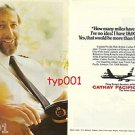 CATHAY PACIFIC - 1976 SENIOR PILOT NEVILLE HALL FLOWN 9 MILLION MILES PRINT AD