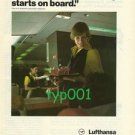 LUFTHANSA - 1980 - HOLIDAY STARTS ON BOARD  PRINT AD