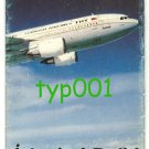TURKISH AIRLINES - 1987 FIRST FLIGHT TO DELHI INDIA BROCHURE - SUPER RARE !