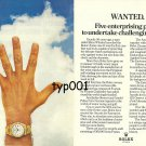 ROLEX - 1976 - FIVE ENTERPRISE AWARDS FOR 50TH ANNIVERSARY PRINT AD