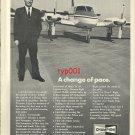 CHAMPION - 1972 - ELGEN LONG'S HISTORIC FLIGHT  PRINT AD - A CHANGE OF PACE