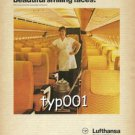 LUFTHANSA - 1979 - GERMAN EFFICIENCY WITH BEAUTIFUL SMILING FACES  PRINT AD