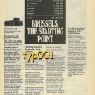 SABENA - 1976 - BRUSSELS THE STARTING POINT PRINT AD