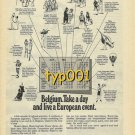 SABENA - 1976 - BELGIUM. TAKE A DAY AND LIVE A EUROPEAN EVENT PRINT AD