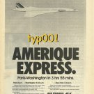 AIR FRANCE - 1976 - AMERIQUE EXPRESS PARIS - WASHINGTON BY CONCORDE  PRINT AD -2
