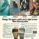 OMEGA - 1976 -THE WATCH TO TRUST PRINT AD - INSBRUCK & MONTREAL 1976 OLYMPICS