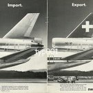 SWISSAIR - 1979 - DC-10 IMPORT & EXPORT PRINT AD