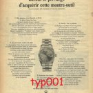 ROLEX - 1967 -  ONLY 100 FRENCH CAN GET IT THIS YEAR PRINT AD - MINI SKIRTS FOR MEN