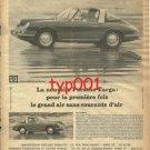 PORCHE - 1967 - PORCHE TARGA PRINT AD - FRENCH AD