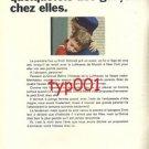 LUFTHANSA - 1968 - OUR HOSTESSES SOMETIMES INVITE BOYS HOME PRINT AD - FRENCH AD