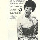 JAPAN AIR LINES - 1964 -JAL HOSTESS FUMIKO NAKAMURA PRINT AD