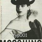 MOSCHINO - 1984 - FASHION PRINT AD- PHOTO BY FABRIZIO FERRI - ITALY