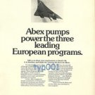 ABEX - 1973 - HYDRAULIC PUMPS FOR CONCORDE PRINT AD
