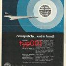 AEROSPATIALE - 1973 CONCORDE PRINT AD