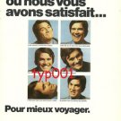 LUFTHANSA - 1974 - MET MANY TIMES FOR MORE TRAVEL PRINT AD - IN FRENCH