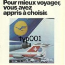 LUFTHANSA - 1974 - FOR BEST TRAVEL YOU LEARNED TO CHOOSE PRINT AD - IN FRENCH