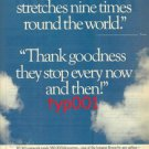 KLM - 1985 - KLM'S NETWORK STRETCHES NINE TIMES AROUND THE WORLD  PRINT AD