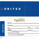 UNITED AIRLINES - 2002 -  BAGGAGE TAG