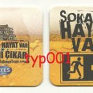 EFES PILSEN - TURKISH BEER COASTER - 01 - THERE'S LIFE ON STREET