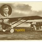 1928 CHARLES LINDBERGH & SPIRIT OF ST LOUIS - FRENCH REAL PHOTO POSTCARD