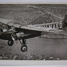 KLM - 1927 FOKKER F-8 H-NAED  REAL PHOTO POSTCARD