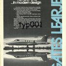 GATES LEARJET 1973 LEAR JET PRINT AD