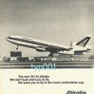 ALITALIA 1973 -  THE NEW DC-10  PRINT AD