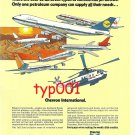 CHEVRON OIL - 1973 AVIATION OILS AND JET FUEL PRINT AD - 25 DIFFERENT JETS