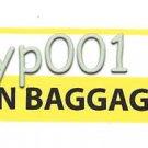 BURAQ AIR LIBYA - CABIN BAGGAGE TAG