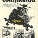 WESTLAND - 1973 COMMANDO HELICOPTER PRINT AD