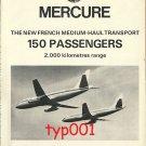 DASSAULT - 1973 - MERCURE JET PRINT AD - AIR INTER