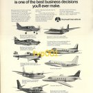 ROCKWELL INT'L - 1973 AIRCRAFT LINE UP PRINT AD