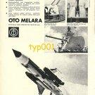 OTO MELARA - 1973 ITALIAN NAVAL ARMS  PRINT AD