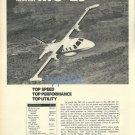 MITSUBISHI - 1973 - MU-2J PROP JET BUSINESS AIRCRAFT PRINT AD