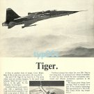 NORTHROP - 1973 - F5E TIGER II FIGHTER JET PRINT AD