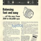 SPECTRAL DYNAMICS - 1973 - BALANCING FAST AND EASY PRINT AD