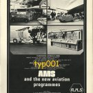 AMS - 1973 AVIATION HYDRAULIC TEST BENCHES PRINT AD - CONCORDE, AIRBUS