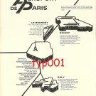 AEROPORT DE PARIS - 1972 - ROISSY, LE BOURGET, ORLY PRINT AD