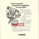VARIAN - 1972 MAGNETRON PRINT AD