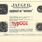 JAEGER AERONAUTICAL 1972 - EQUIPMENT ON MERCURE JET PRINT AD