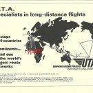 UTA UNION DE TRANSPORTS AERIENS - 1972 - ROUTE MAP PRINT AD