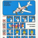 TURKISH AIRLINES - 1999 - AIRBUS A310-200 & A310-300 SAFETY CARD - 01