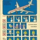 TURKISH AIRLINES - AIRBUS A340-300 SAFETY CARD