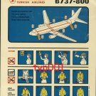 TURKISH AIRLINES - 2000 - BOEING B737-800 SAFETY CARD - 04